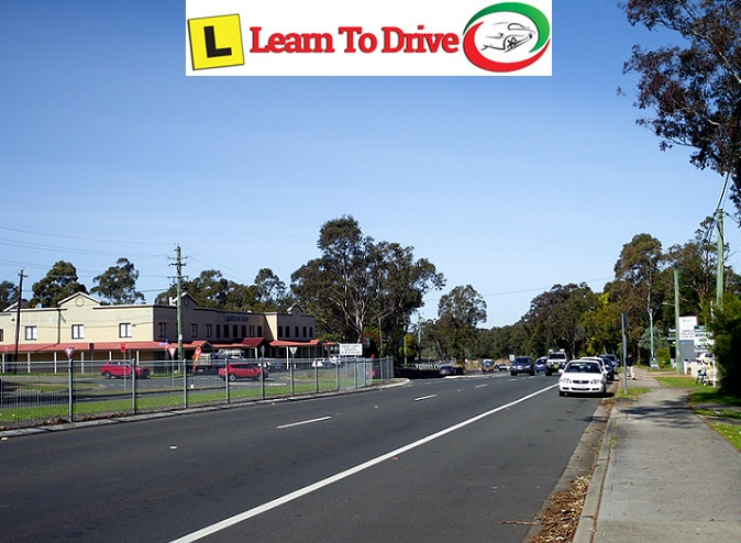 Lapstone road during driving lesson