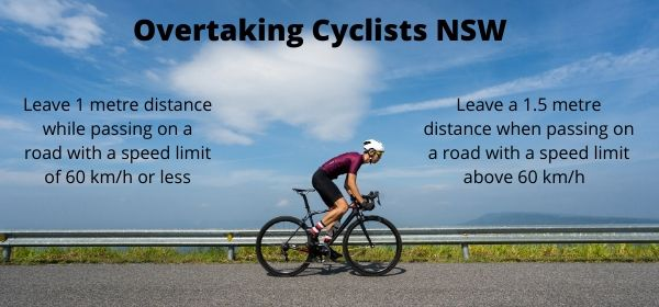 overtaking cyclist nsw road rules