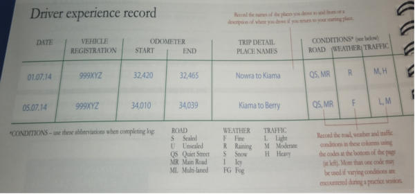 learner log book mistakes